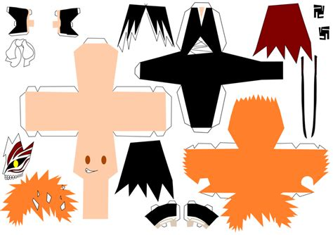 Ichigo Hollow Mask Papercraft - ichigo bankai hollow mask by ryoukamui on deviantart