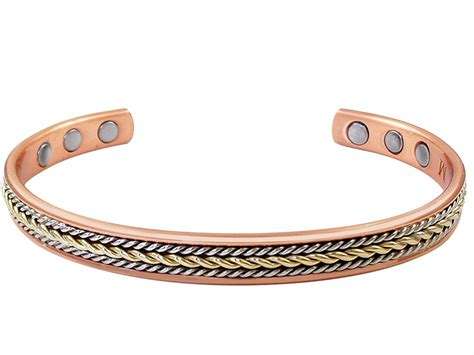 twist copper magnetic therapy bracelet