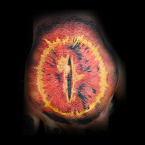 eye of sauron tattoo 30 eye of sauron designs for lord of the