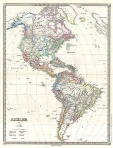 Map Of The Americas by File 1855 Spruner Map Of The Americas Since 1776