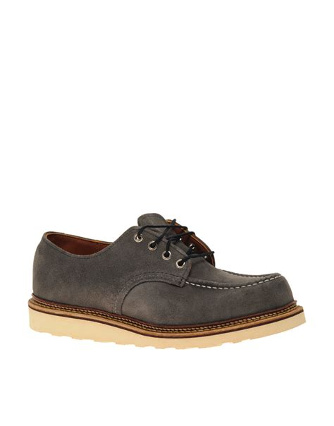 work oxford shoes wing work oxford shoes in gray for grey lyst