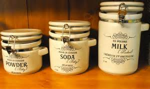 french style canister labels for the kitchen and food storage