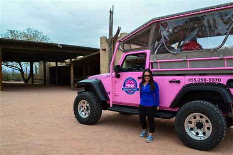 Jeep Tours Scottsdale Roading Through The Sonoran Desert With Pink Jeep Tours
