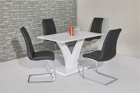 black dining room table and 4 chairs white high gloss dining room table and 4 black chairs ebay