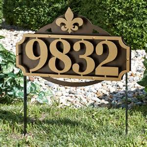 home address signs la casa fleur house number address sign yard stake by