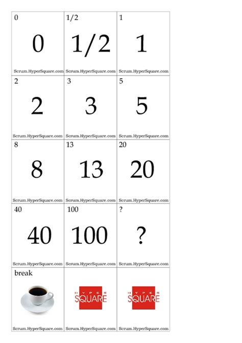 printable planning poker cards todayharmonytm over blog com
