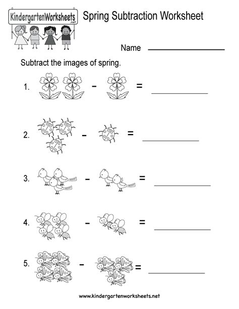 printable subtraction worksheets free free printable kindergarten subtraction worksheets