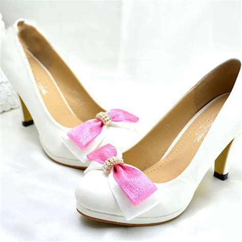 flower dress shoes fashion white pearl wedding bridal dress shoes flower