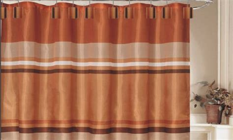 Orange And Brown Curtains 17 Best Images About Bathroom Decor On Bath
