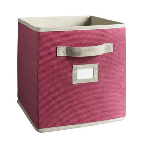 martha stewart living half width fabric drawers martha stewart living 10 1 2 in x 11 in beet fabric