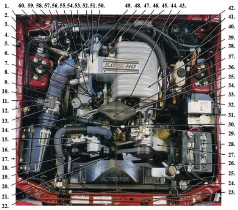 fox body engine compartment diagram fox body mustang