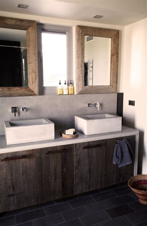 rustic modern bathroom vanity 1000 images about recycled material vanities on pinterest