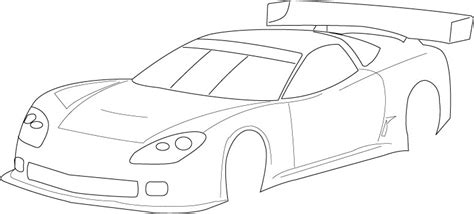 blank coloring pages cars race car side view coloring pages