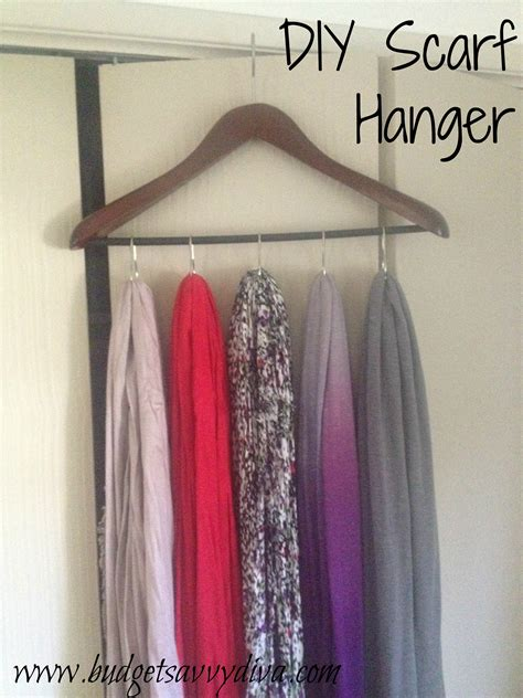 Hangers For Curtains How To Make A Scarf Hanger Using Shower Curtain Rings And A Hanger Budget Savvy