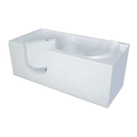 home depot walk in bathtub universal tubs 5 ft x 30 in left drain walk in soaking