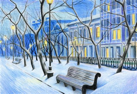 winter city landscape by sabdi on deviantart