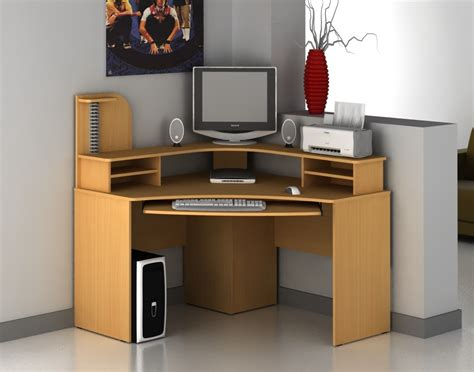 small corner computer desk wooden convenient small