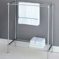 standing bath towel rack bathroom free standing towel rack for small bathroom