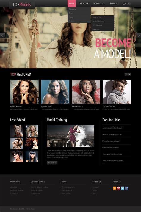 Model Agency Website Template 42132 Modeling Website Templates Free