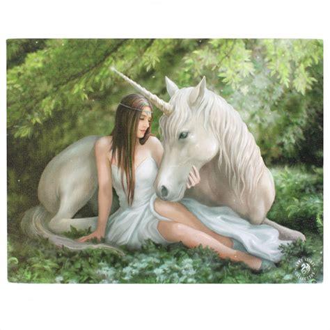 Decorative Sticks For The Home Pure Heart Unicorn Canvas Picture Anne Stokes Mystic Wish