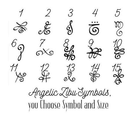 tattoo sizes 2 angelic zibu symbol temporary various sizes