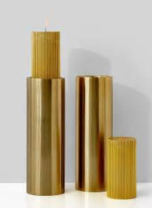 Gold Candle Pillars 4 X 11 3 4in Gold Pillar Candle Holder