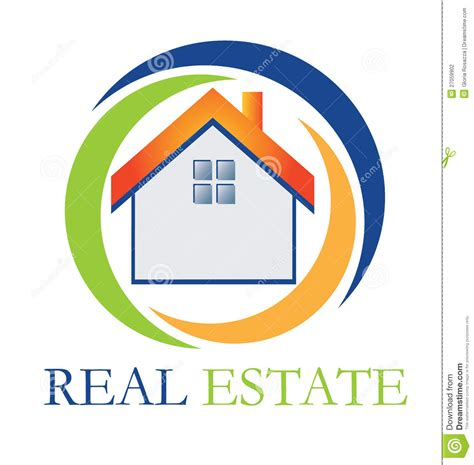 real estate on the house real estate house logo stock photography image 27059902