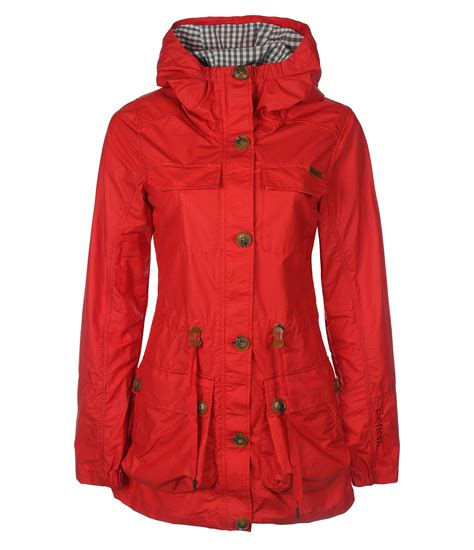 bench women bench bench womens dalebury long hooded mac in red lyst