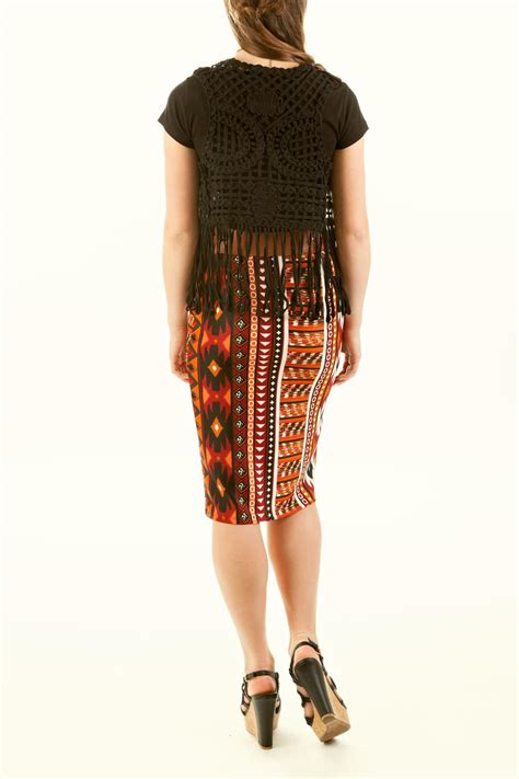 az design aztec pencil skirt from idaho by style unlimited