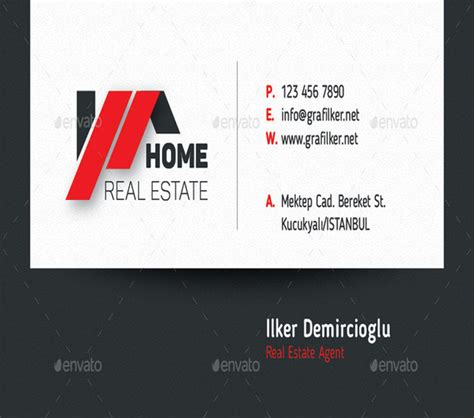 real estate cards template 20 real estate business card templates