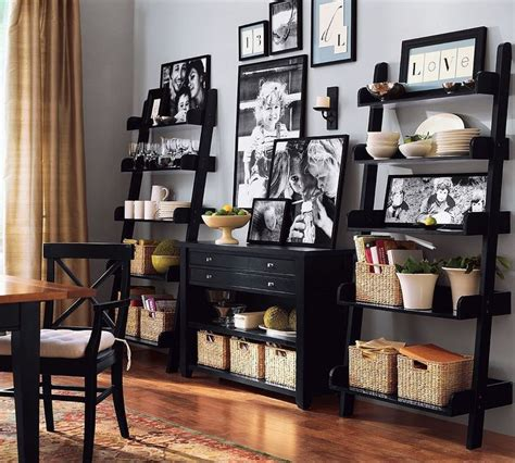 ladder shelves dining room ideas