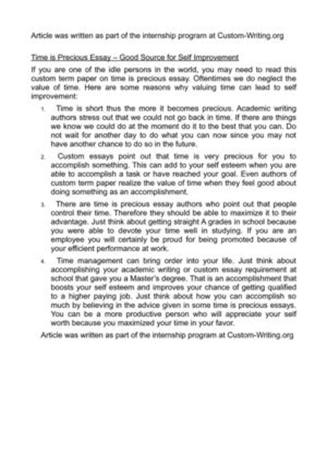 Essay On Time Is Precious calam 233 o time is precious essay source for self improvement