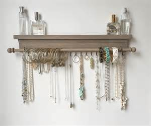 jewelry organizer hanging jewelry shelf by timberridgeshop
