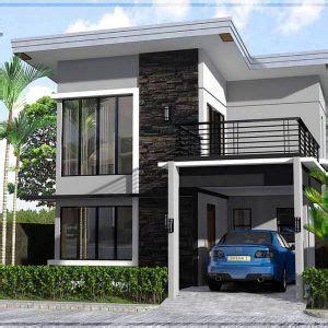 desain rumah minimalis  lantai ukuran  terbaru  minimalis  fachadas de casas