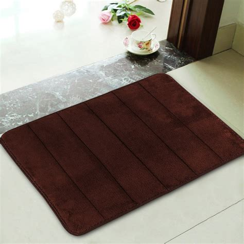 memory foam bathroom rugs new memory foam bath mats bathroom horizontal stripes rug non slip mats 60x41cm ebay