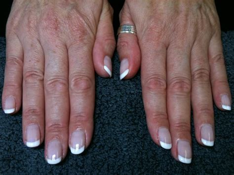 short tonail colors shellac french manicure romantique cream puff negligee