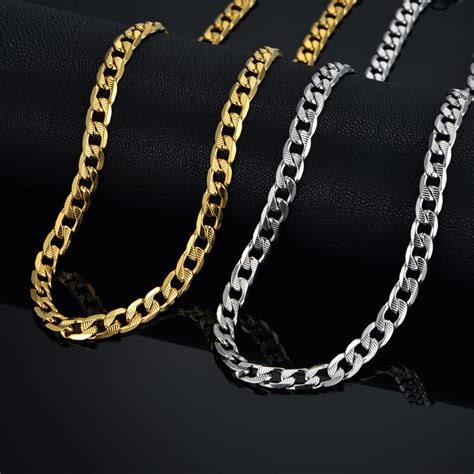 hiphop gold chains for jewelry 7mm chains