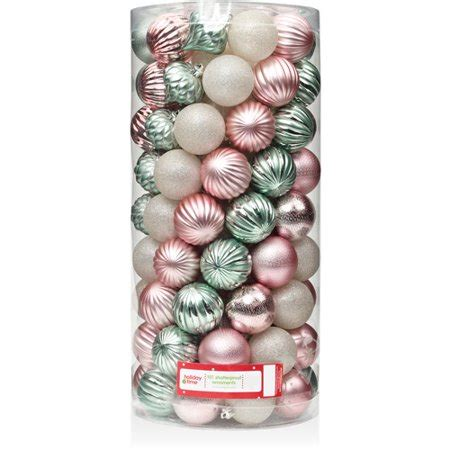 walmart ornaments pack time 60mm shatterproof ornaments set of 101 walmart