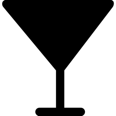 Glass Of Cocktail Silhouette Free Food Icons