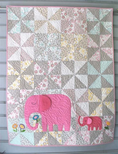 fabric elephant pattern free e is for elephant quilt kit with backing fabric by