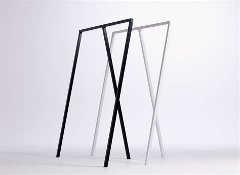 design clothes rack loop stand l 130 cm white by hay