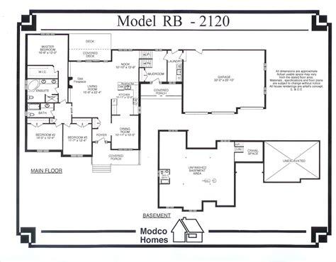 raised bungalow floor plans 2120 sq ft raised bungalow modco homes