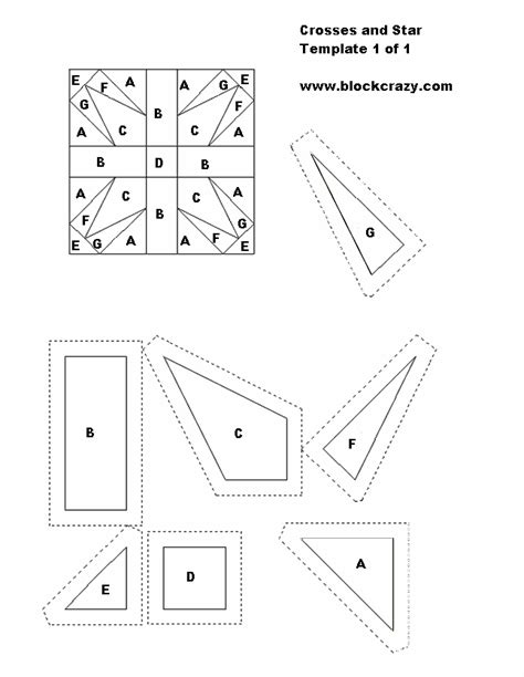Free Patchwork Templates Printable - free patchwork and applique quilt block patterns