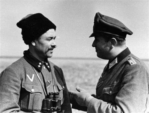 hitlers russian cossack german forces cossack and german officer