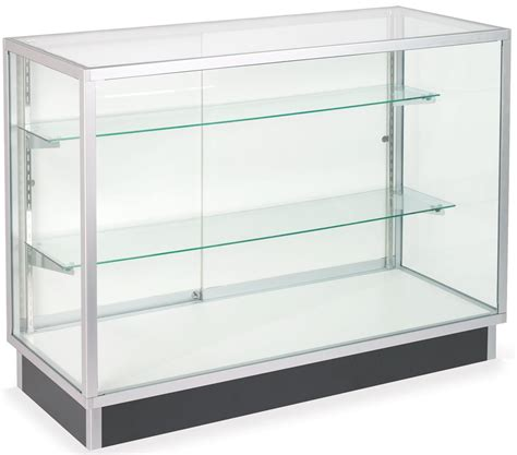 glass display shelves glass laminate door cabinets four foot wide display cases