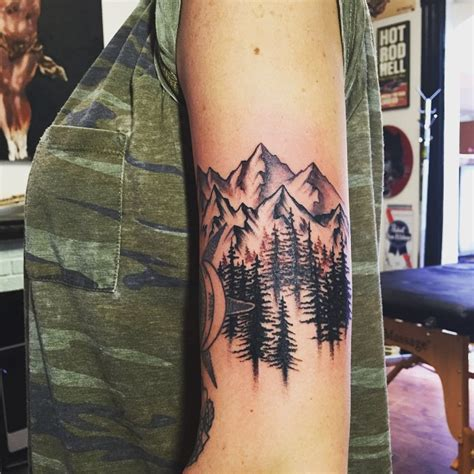 tree and mountain tattoo 60 fabulous mountain designs for all ages