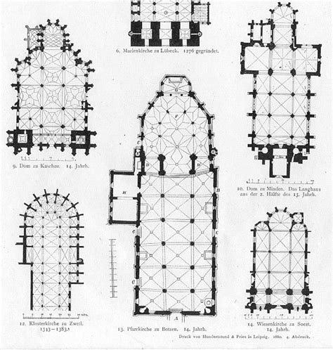 floor plan of gothic cathedral german church floor plans gothic architecture print