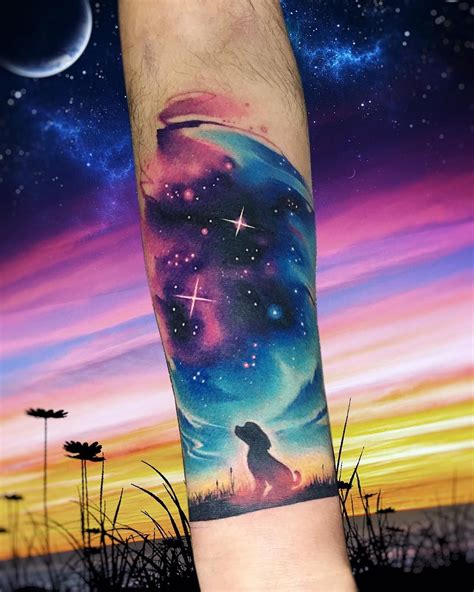 watercolor tattoo galaxy dogxl ab tatuaje galaxy space espacio galaxia