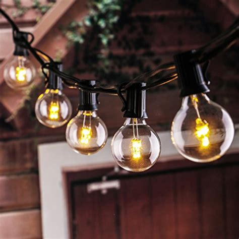 25ft Led G40 String Lights With 25 Led Warm Globe Bulbs Ul Indoor Outdoor String Lights