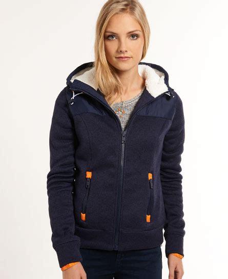 Hoodie Zipper Hijau Fuji Size M womens fuji hoodie in grit navy superdry